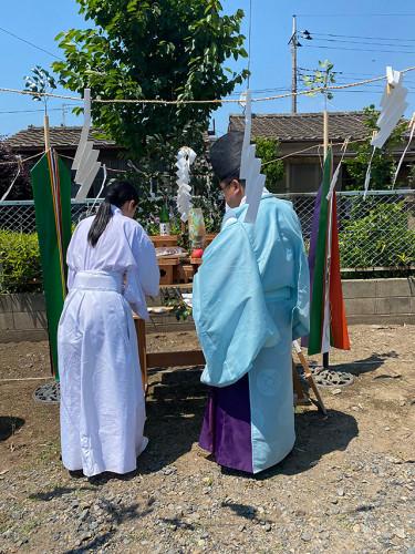 大泉町内 地鎮祭