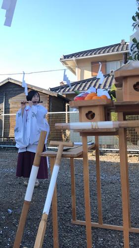 太田市内で地鎮祭